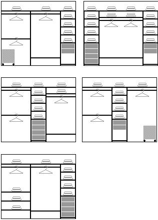 Внутренняя конструкция трехдверного шкафа